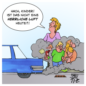 Cartoon Kinder Stadtluft
